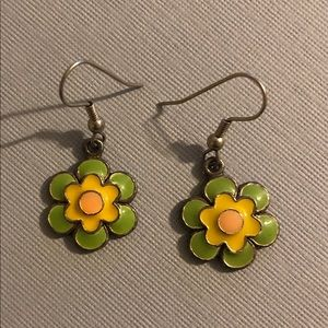 Jewelry - Flower charm earrings